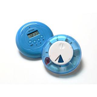 Pillendoosje met LCD klok en trilfunctie