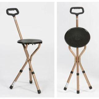 Wandelstokstoeltje in aluminium Drive, lichtgewicht standaard - hoogteverstelbaar