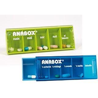Pillendoosje Anabox voor 1 dag 5 vakjes fr
