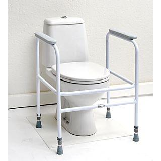 Toiletkader Days staal, wit gecoat - vrijstaand