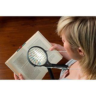 Vergrootglas met halskoordje met lampje / lens 12,5 CM - vergroting x1,5